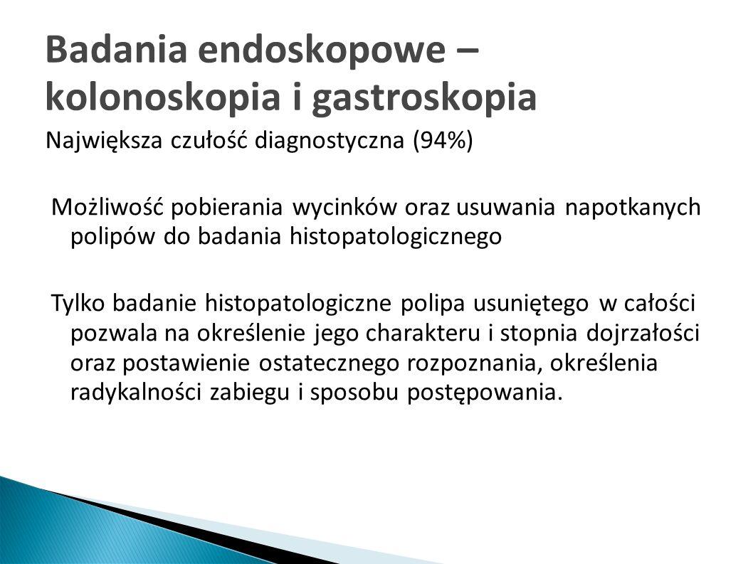 Badania endoskopowe – instrumentarium Kolonoskop Pętla do polipektomii Urządzenie do diatermii