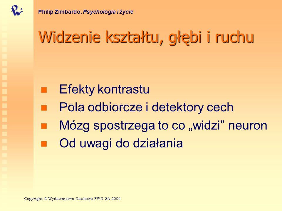 Kontrast jasności Philip Zimbardo, Psychologia i życie Copyright © Wydawnictwo Naukowe PWN SA 2004
