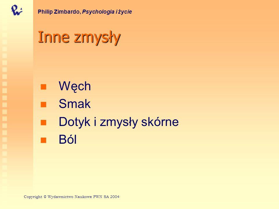 Receptory smaku Philip Zimbardo, Psychologia i życie Copyright © Wydawnictwo Naukowe PWN SA 2004