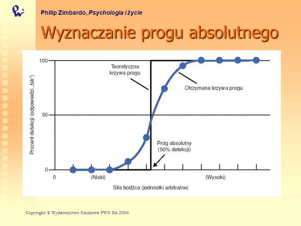 Teoria detekcji sygnałów Philip Zimbardo, Psychologia i życie Copyright © Wydawnictwo Naukowe PWN SA 2004