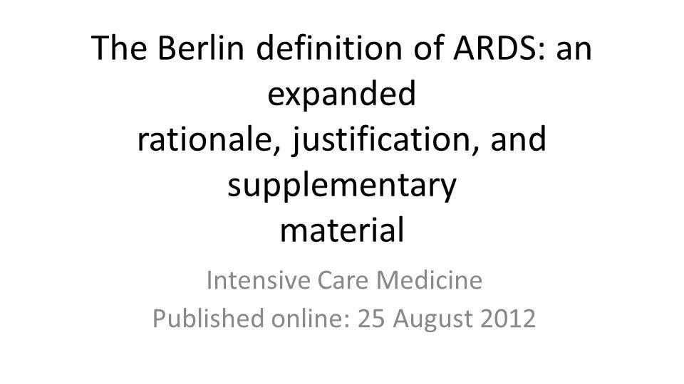 Pierwsza definicja zespołu ostrej niewydolności oddechowej (ARDS) pochodzi z 1967 roku, kiedy opisano 12 chorych z ciężką ostrą niewydolnością oddechową.