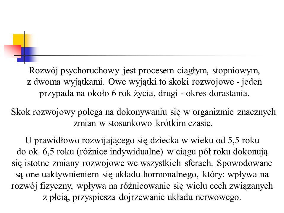 CECHY ROZOJOWE DZIECKA SZEŚCIOLETNIEGO WŁAŚCIWOŚCI FIZYCZNE WŁAŚCIWOŚCI PSYCHICZNE ROZWÓJ SPOŁECZNY EMOCJE