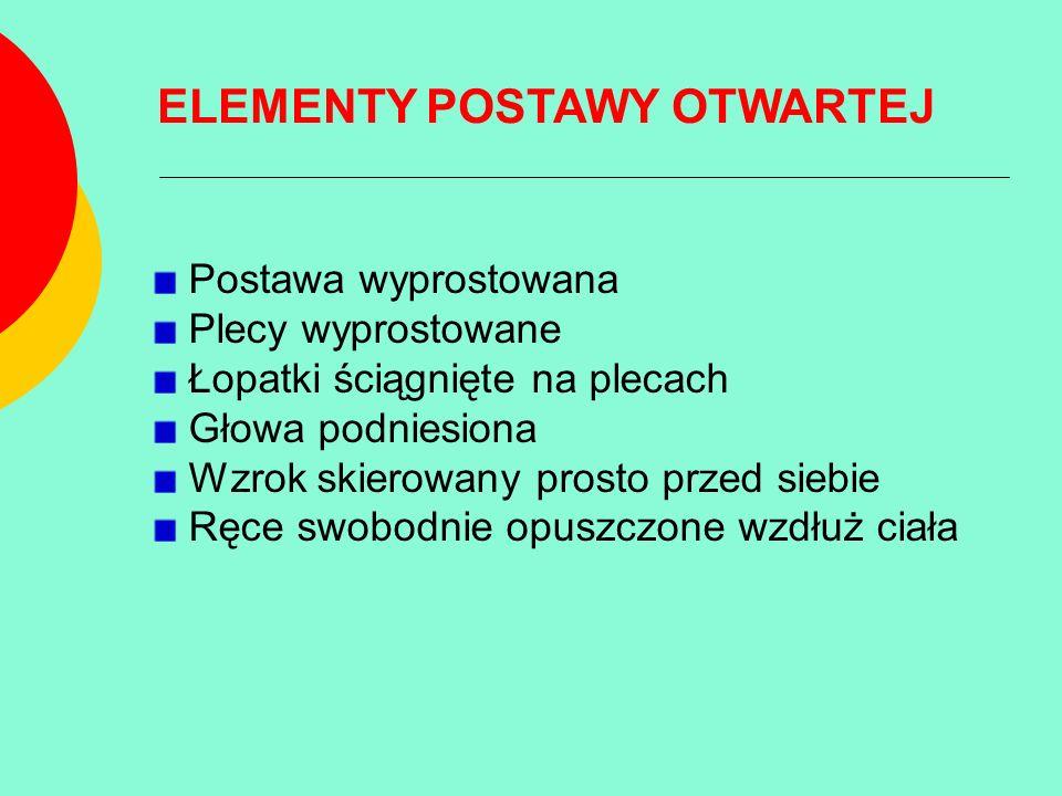 POSTAWA ZAMKNIĘTA Jest przeciwieństwem postawy otwartej, nazywa się ją także postawą pokorną.