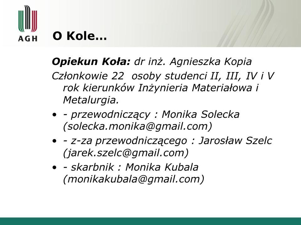Czym się zajmujemy.Seminaria naukowo techniczne w Instytutach Naukowych w Krakowie.