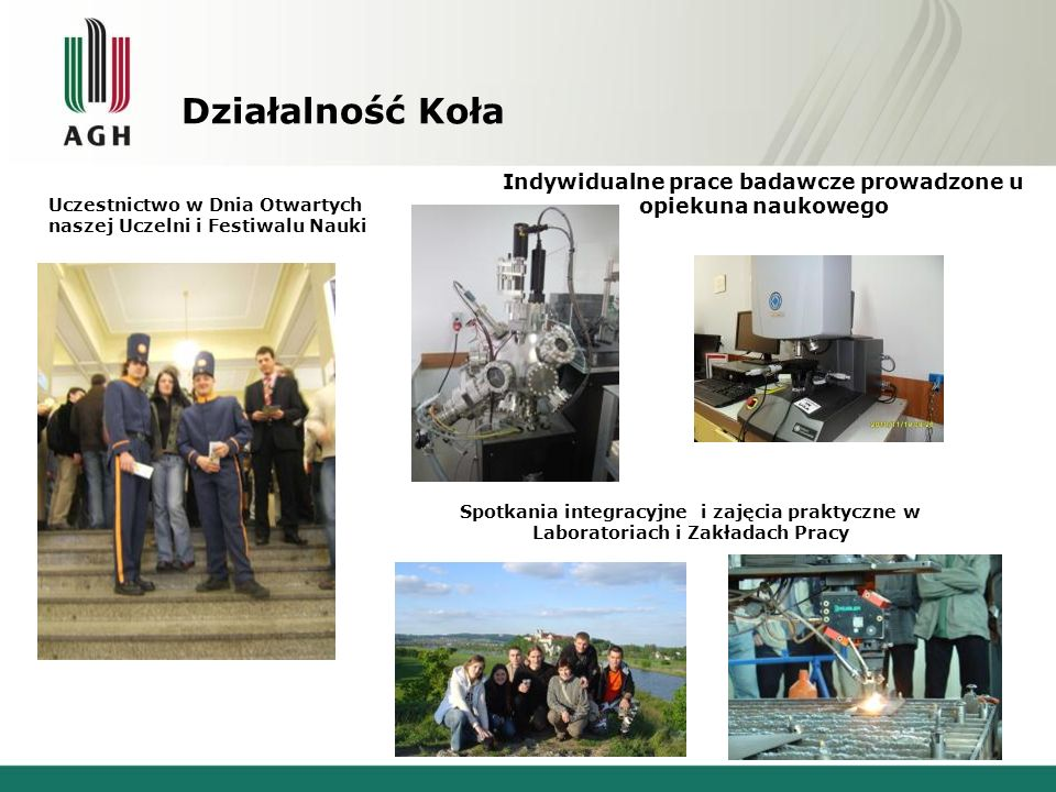 Osiągnięcia i ważniejsze wydarzenia Co roczne seminaria naukowe na którym specjaliści z zakresu Inżynierii Powierzchni prezentują wyniki swoich badań.
