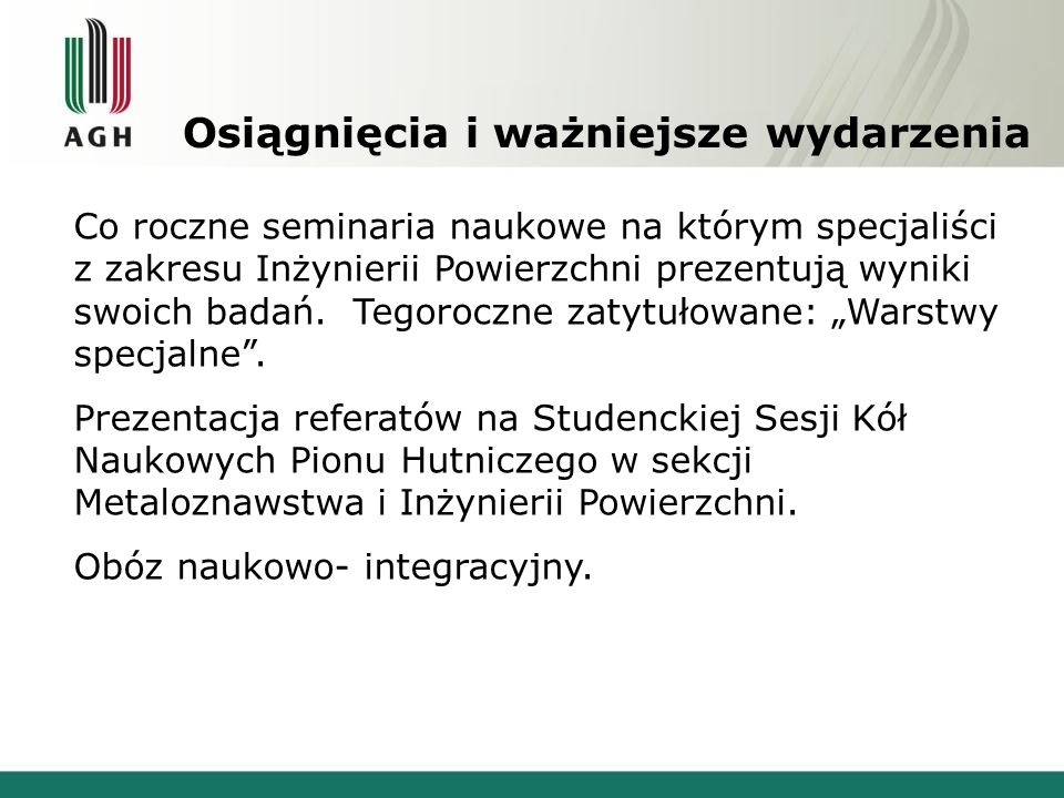 Kontakt www.tempus.metal.agh.edu.pl/knip e-mail: solecka.monika@gmail.com D ołącz do nas !
