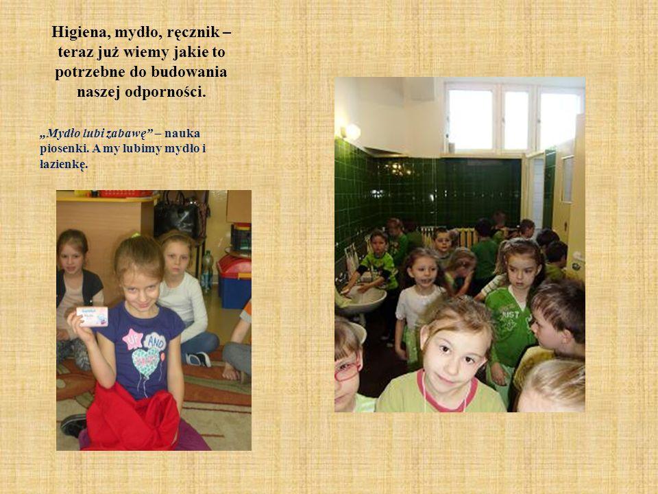 Higiena całego ciała Na tych warsztatach przedszkolaki dowiedziały się, że higiena to dbanie o czystość skóry całego ciała.