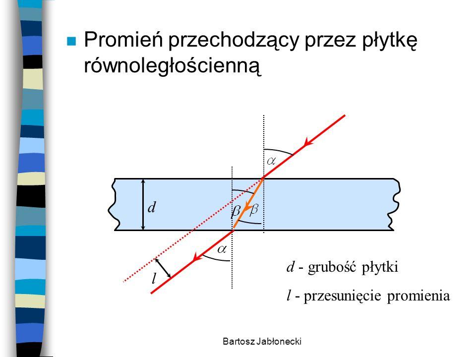 Bartosz Jabłonecki n Pryzmat to przezroczysta bryła ograniczona dwiema powierzchniami płaskimi i nierównoległymi.