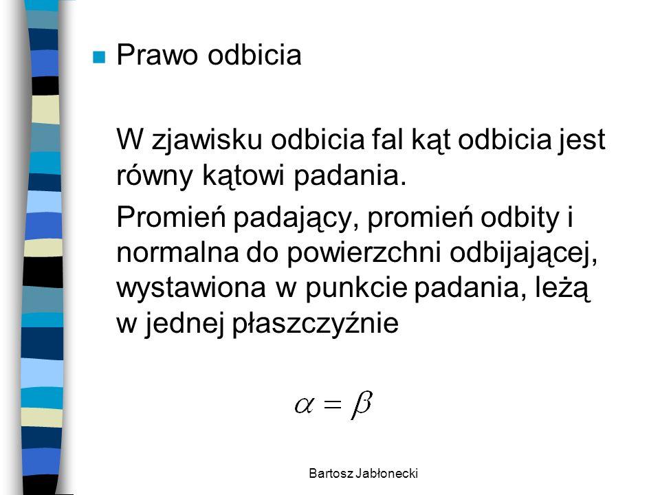 Bartosz Jabłonecki n Zjawisko załamania fal polega na zmianie kierunku rozchodzenia się fal na granicy dwóch ośrodków, przy przejściu z jednego ośrodka do drugiego, na skutek różnej prędkości fali w tych ośrodkach.