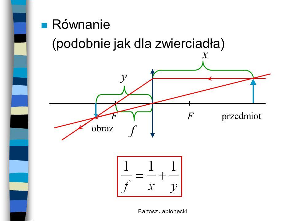 Bartosz Jabłonecki n Inne konstrukcje przedmiot obraz Cechy: rzeczywisty odwrócony powiększony FF