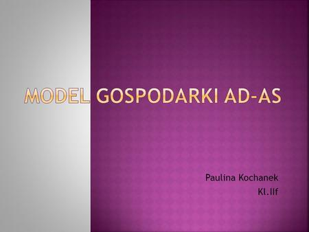 Model gospodarki AD-AS