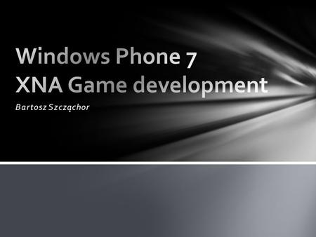 Windows Phone 7 XNA Game development