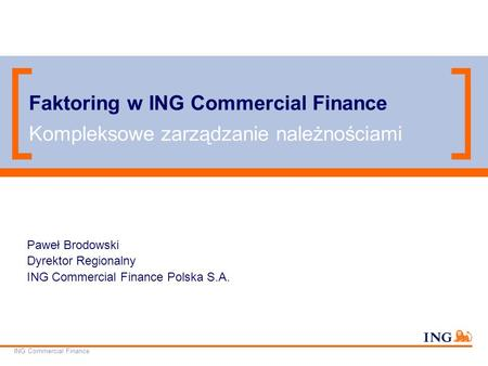 Faktoring w ING Commercial Finance