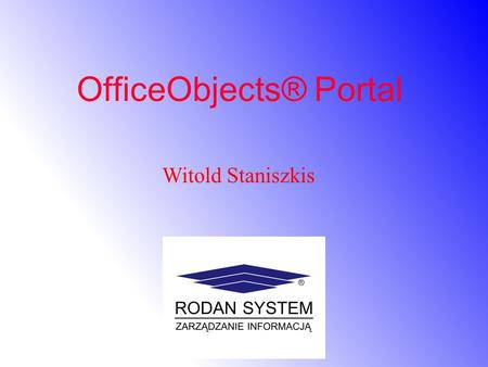 OfficeObjects® Portal