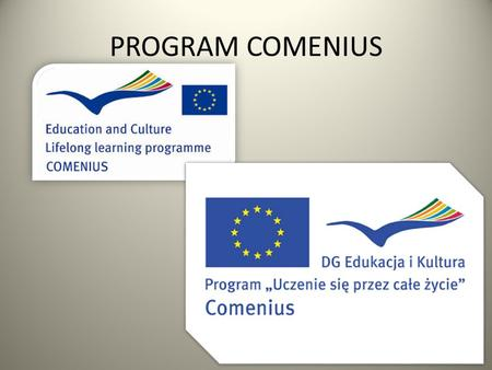 PROGRAM COMENIUS.