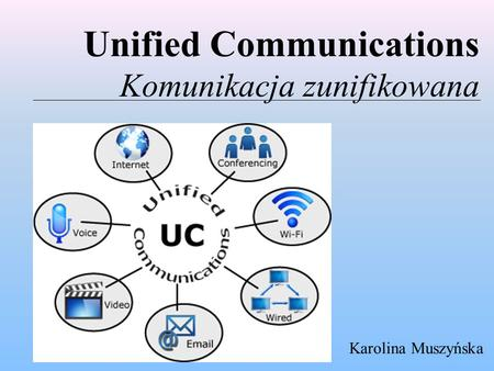 Unified Communications Komunikacja zunifikowana