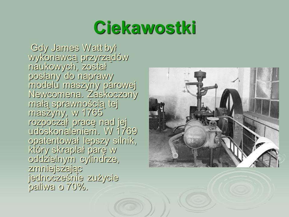 Ciekawostki Jedna maszyna parowa mogła napędzać sto warsztatów tkackich.