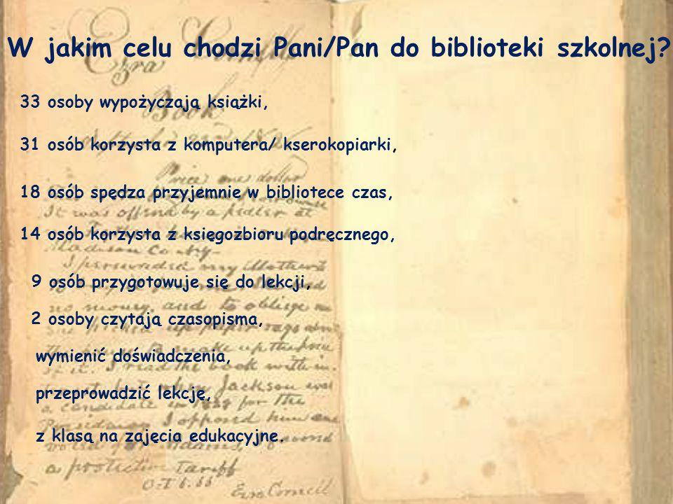 Czy zbiory biblioteczne zaspokajają Pani/Pana potrzeby.