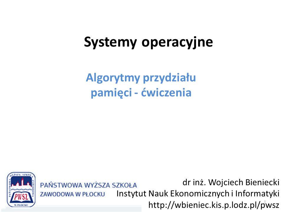 Wstęp 2 W systemie wieloprogramowym procesy, które działają powinny mieć wydzielone – rozłączne obszary pamięci.