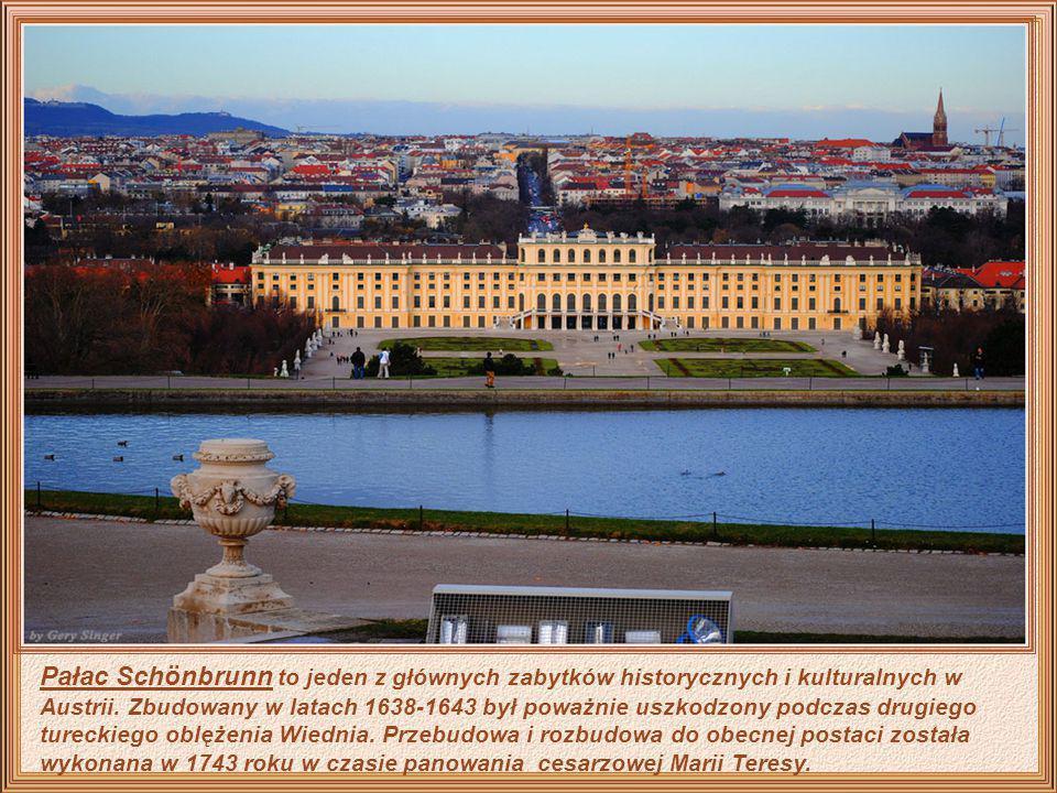 Pałac Schönbrunn to jeden z głównych zabytków historycznych i kulturalnych w Austrii.