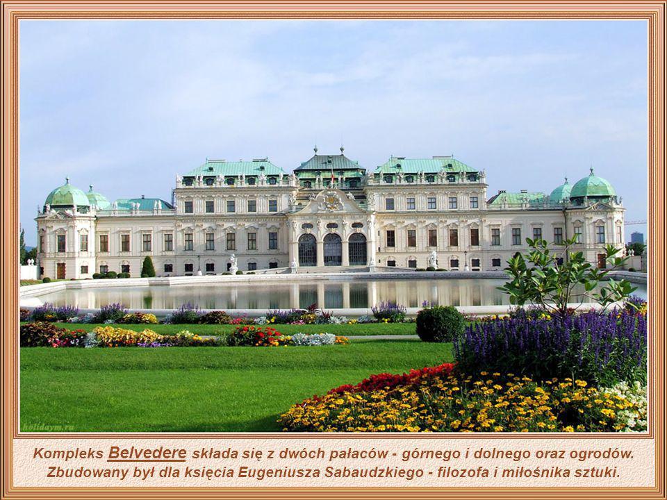 Kompleks Belvedere składa się z dwóch pałaców - górnego i dolnego oraz ogrodów.
