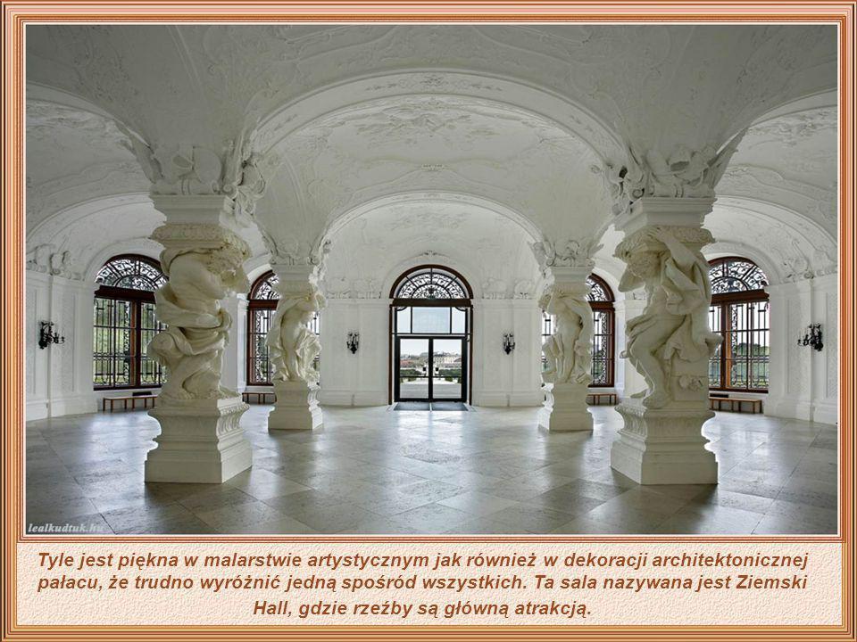 Tyle jest piękna w malarstwie artystycznym jak również w dekoracji architektonicznej pałacu, że trudno wyróżnić jedną spośród wszystkich.