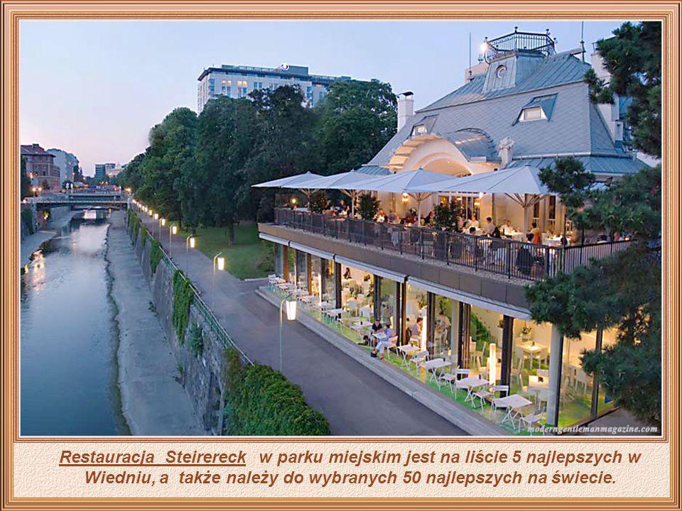 Restauracja Steirereck w parku miejskim jest na liście 5 najlepszych w Wiedniu, a także należy do wybranych 50 najlepszych na świecie.
