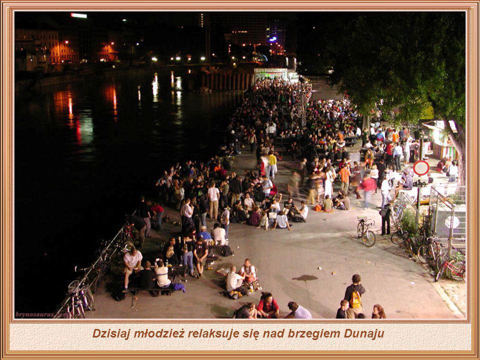 Dzisiaj młodzież relaksuje się nad brzegiem Dunaju
