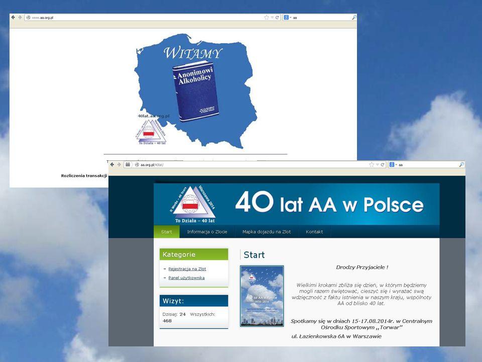 """PROGRAM ZLOTU 40-LECIA AA W POLSCE – """"TORWAR 15-17.08.2014 MITYNGI I WARSZTATY AA PIĄTEK 15.VIII."""