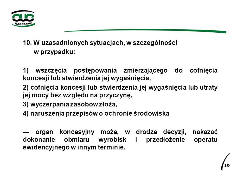 Rozporządzenie Ministra Środowiska – Dokumentacja złoża kopaliny § 8.