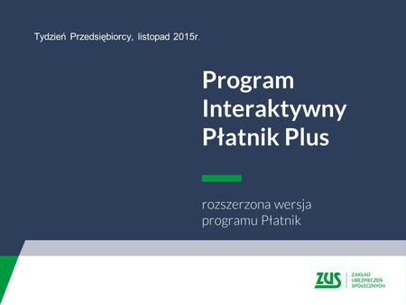 Program Interaktywny Płatnik Plus
