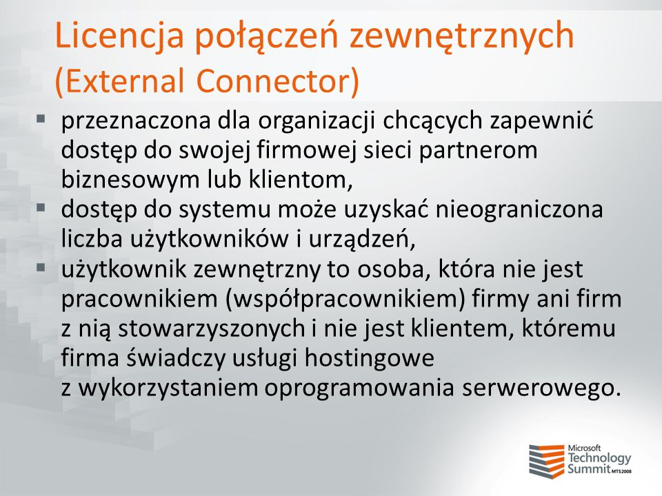 External Connector - wskazówki  Windows Svr ExtrnConn = ok.