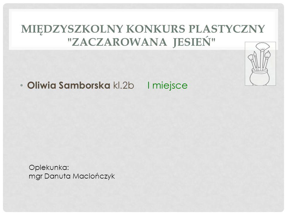 MIEJSKI KONKURS MATEMATYCZNY DLA KLAS III Natalia Szymiczek kl.