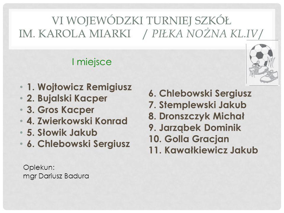 TURNIEJ PIŁKI NOŻNEJ KLAS I-III / OLZA / 1.Ryszka Szymon 2.
