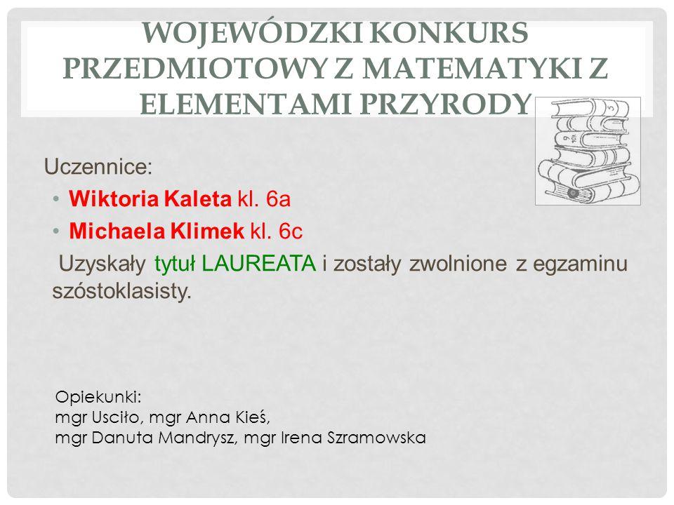 MIEJSKI KONKURS EKOLOGICZNY Robert Bugla kl.6c Józef Miliczek kl.