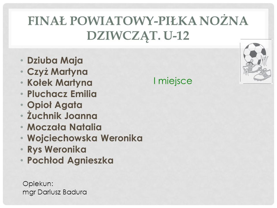 POWIATOWE ROZGRYWKI SZKÓŁ PODSTAWOWYCH W SZACHACH DZIEWCZĄT – SZS Olga Bilczewska kl.