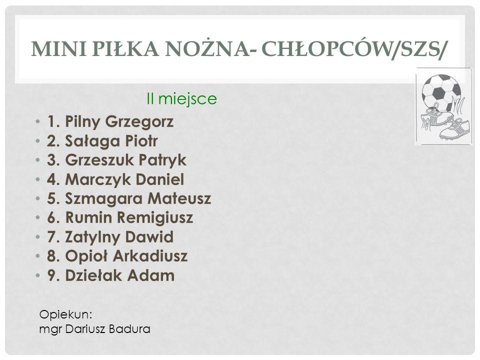MINI PIŁKA NOŻNA- DZIEWCZĄT /SZS/ 1.Kaleta Wiktoria 2.