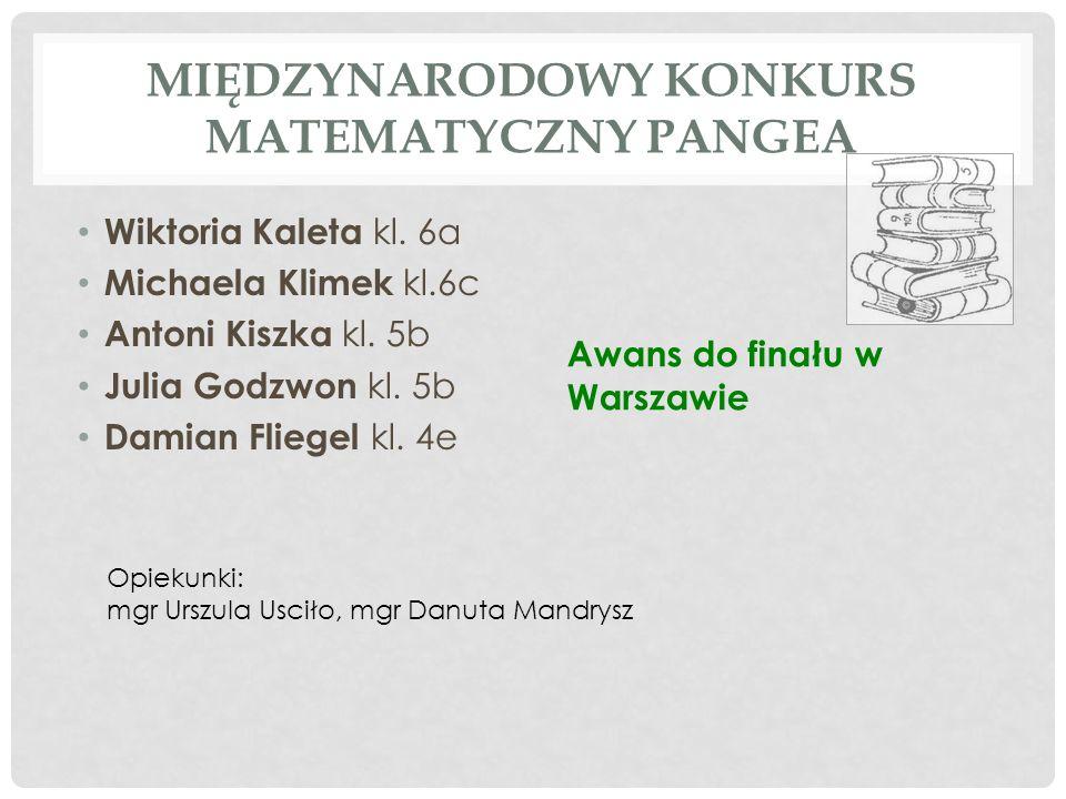 MIEJSKI KONKURS ORTOGRAFICZNY - INDYWIDUALNIE Kinga Lubszczyk kl.