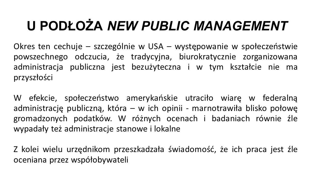 """OUTSOURCING W ZARZĄDZANIU PUBLICZNYM Koncepcja """"nowego zarządzania publicznego (NPM) pojawiła się w Wielkiej Brytanii, Australii i Nowej Zelandii w latach 80."""