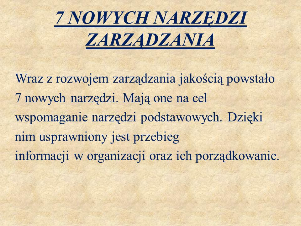 7 NOWYCH NARZĘDZI ZARZĄDZANIA Diagram pokrewieństwa (ang.