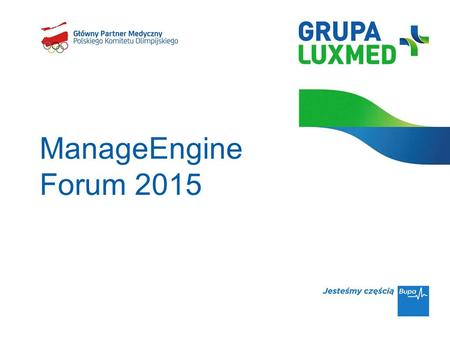 ManageEngine Forum 2015.