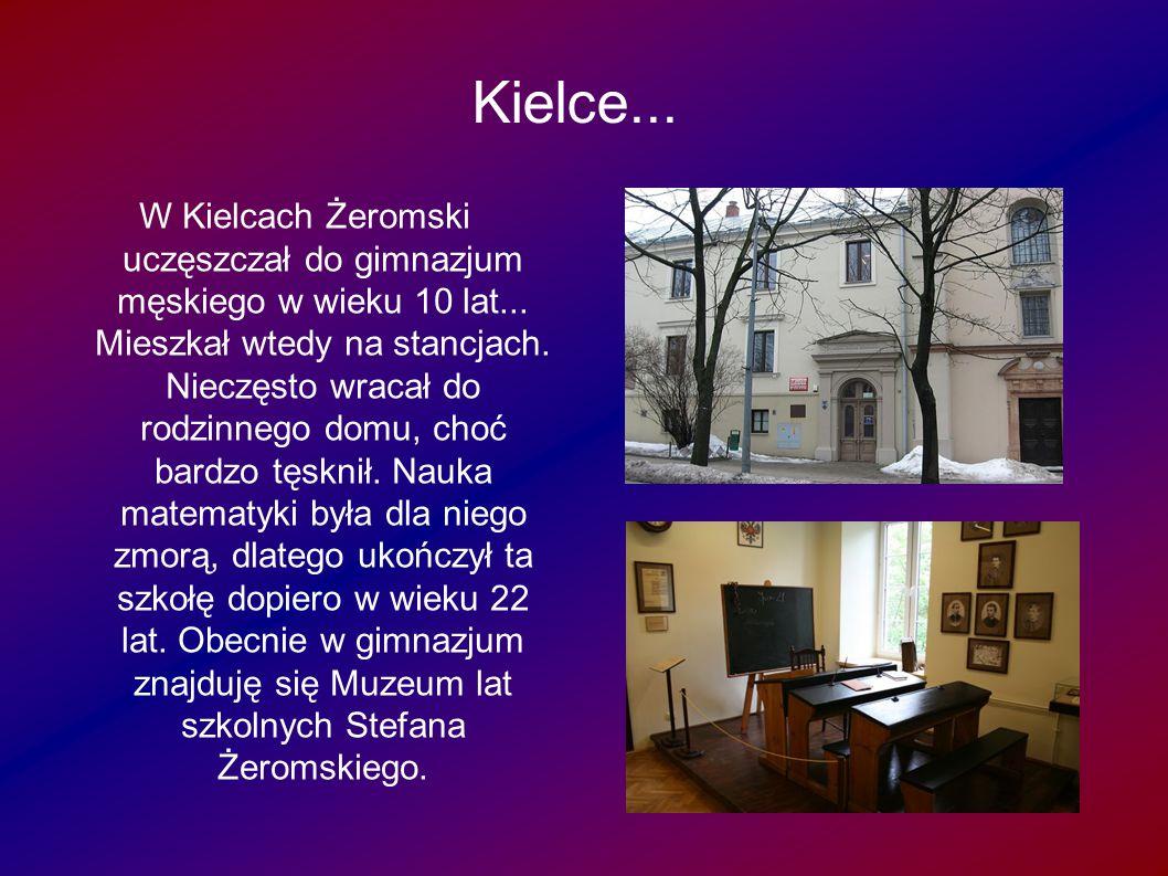 Warszawa...wa... Żeromski marzył o studiach medycznych, lecz nie zdał matury.