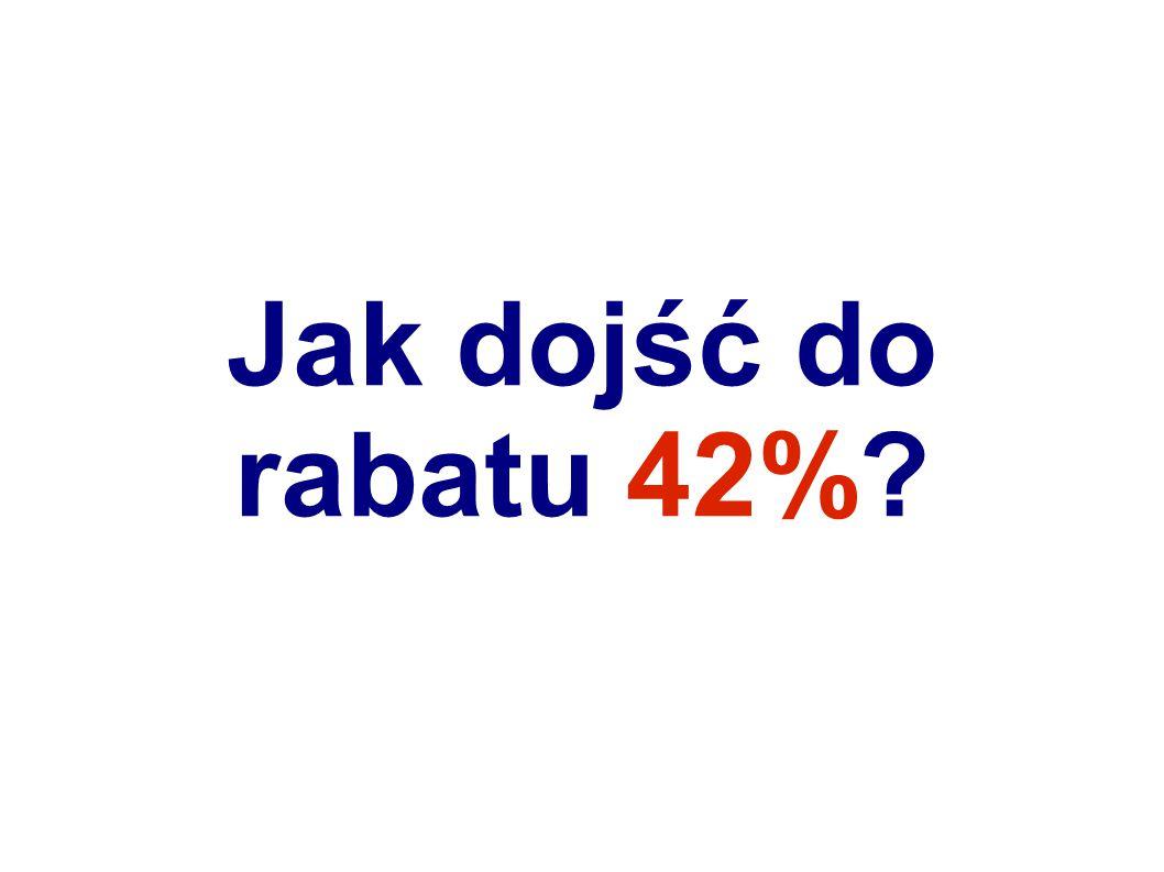 Droga do kupowania z rabatem 42% wiedzie przez kolejne zakupy 30% 3.000 zł