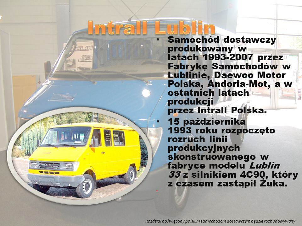 W 1952 roku w Biurze Konstrukcyjnym Przemysłu Motoryzacyjnego w Warszawie rozpoczęto prace nad pierwszym polskim samochodem ciężarowym dużej ładowności.