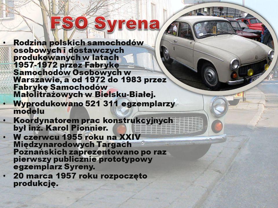 Polski samochód osobowy, opracowany w latach 60.XX wieku, który nie wszedł do produkcji.