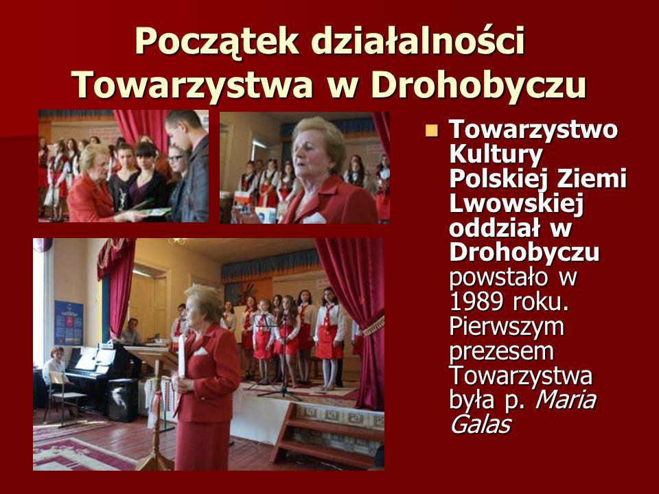 Nowy Prezes W 1998 roku w Drohobyczu odbyło się walne sprawozdawczo- wyborcze zebranie, gdzie większością głosów nowym prezesem Towarzystwa został wybrany Adam Aurzecki.
