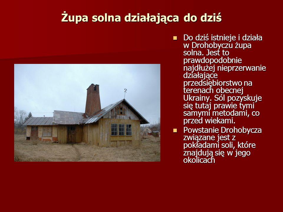 Centrum Drohobycza To właśnie centrum wykazuje różnorodność kulturową jego mieszkańców, to tutaj obok siebie stoi potężny kościół rzymskokatolicki, cerkiew prawosławna, grekokatolicka i synagoga żydowska.