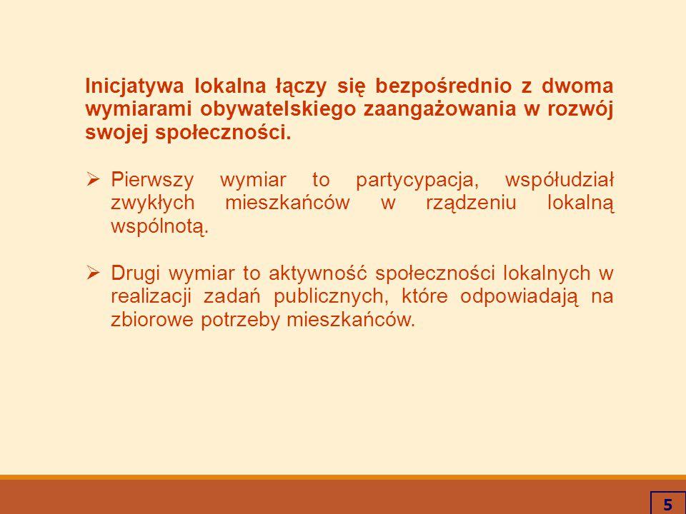 6 Podstawa prawna Wymóg wprowadzenia inicjatywy lokalnej wynika z nowelizacji ustawy z dnia 24 kwietnia 2003 r.