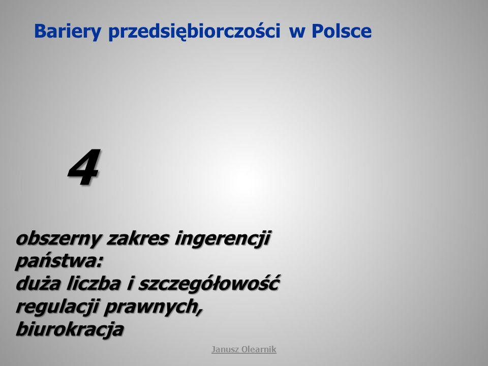 Bariery przedsiębiorczości w Polsce 5 niska kultura prawna i etyczna, przestępczość, Janusz Olearnik