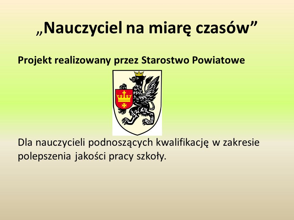 Zaplanuj karierę zawodowo Projekt dla uczniów klas I i II Technikum Weterynarii realizowany przez Starostwo Powiatowe.